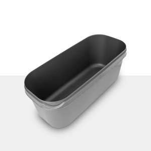 5 litre Napoli food container in silver