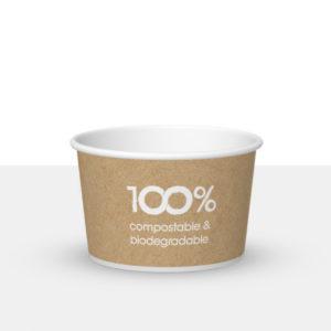 80cc compostable ice cream tub